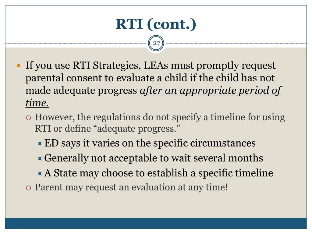 RTI (cont.)