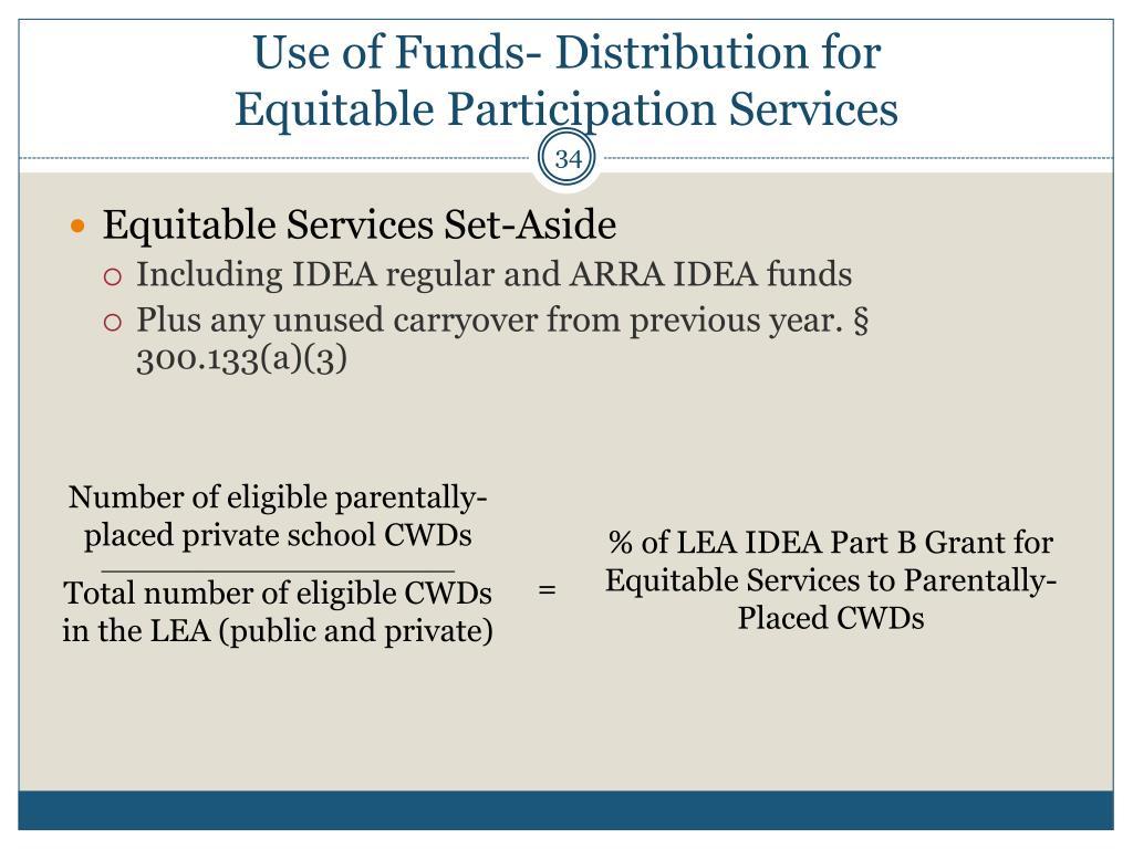 Equitable Services Set-Aside