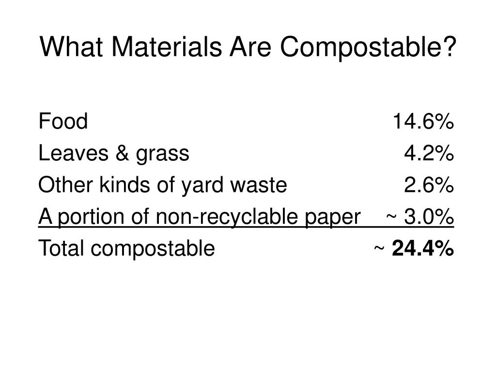 What Materials Are Compostable?