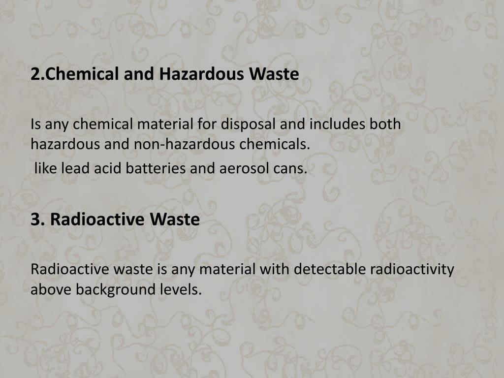 2.Chemical and Hazardous Waste