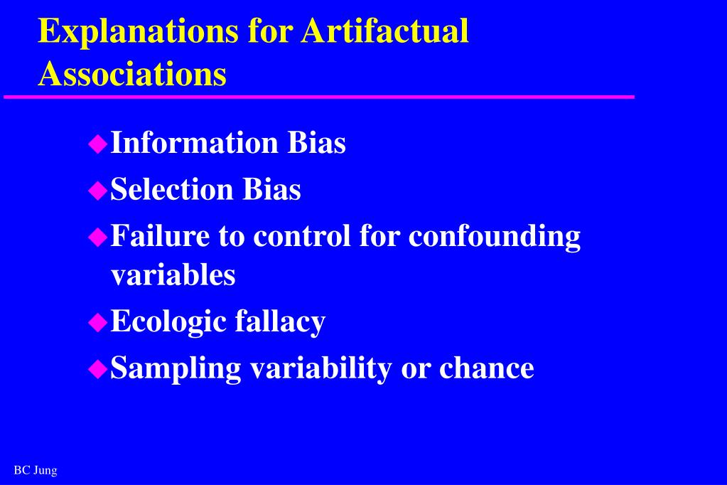 Explanations for Artifactual Associations
