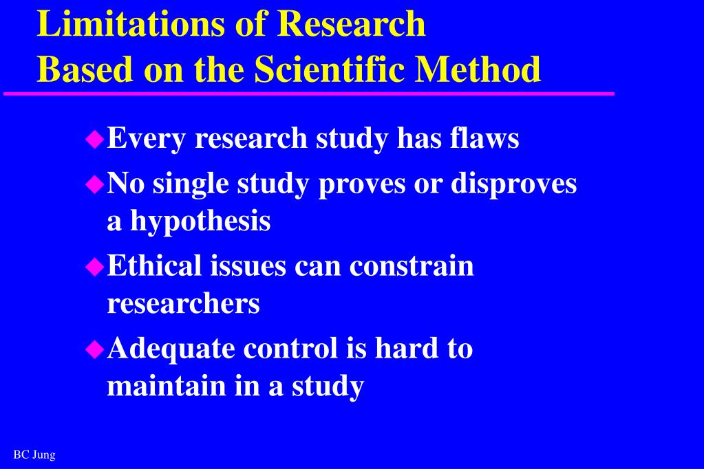 Limitations of Research