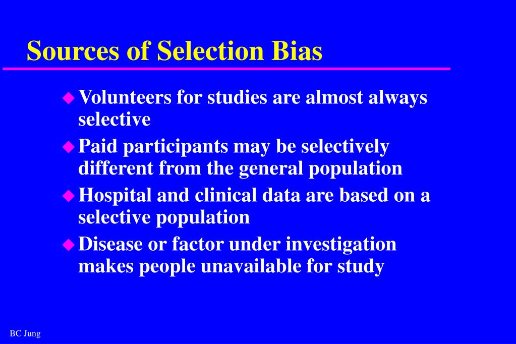 Sources of Selection Bias