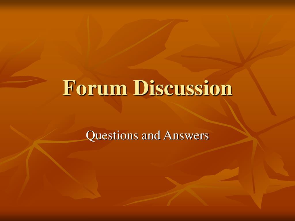 Forum Discussion