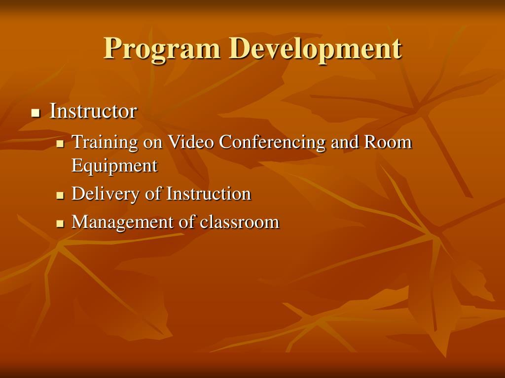 Program Development