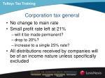 corporation tax general