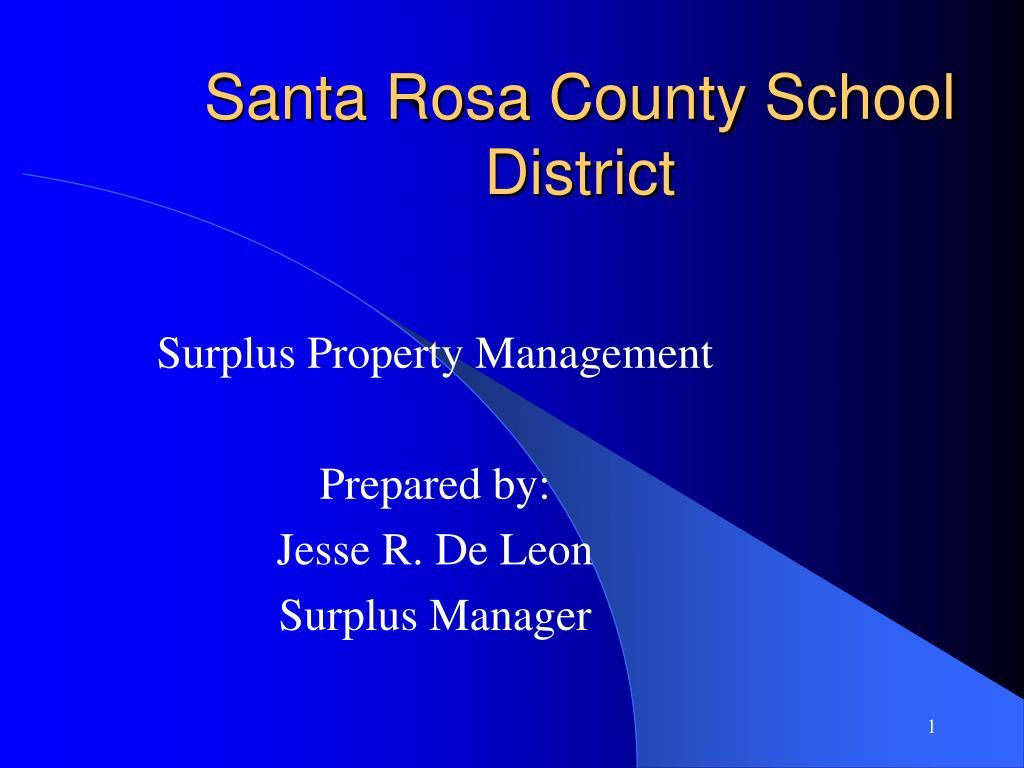 santa rosa county school district l.