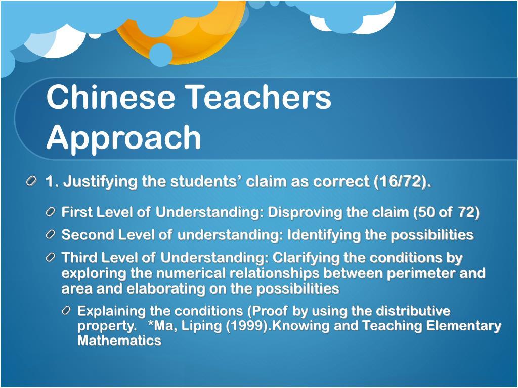 Chinese Teachers Approach