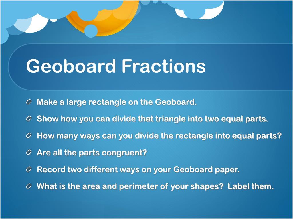 Geoboard Fractions