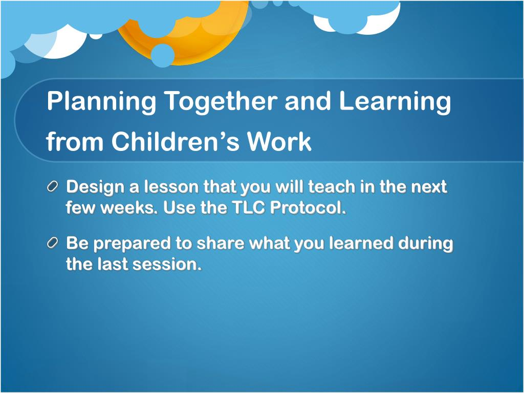 Planning Together and Learning from Children's Work