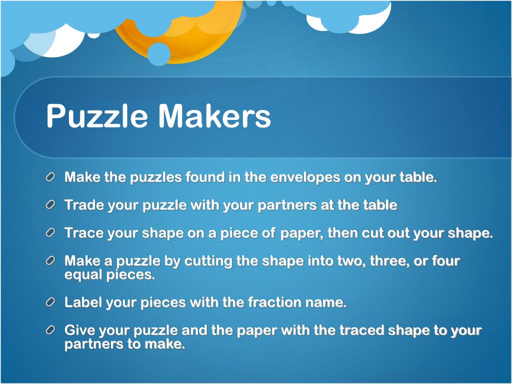 Puzzle Makers