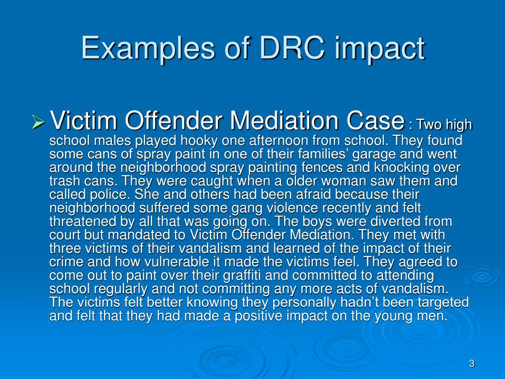 Examples of DRC impact