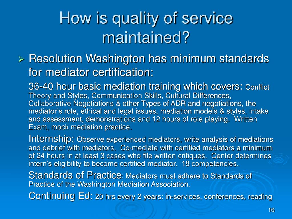 How is quality of service maintained?