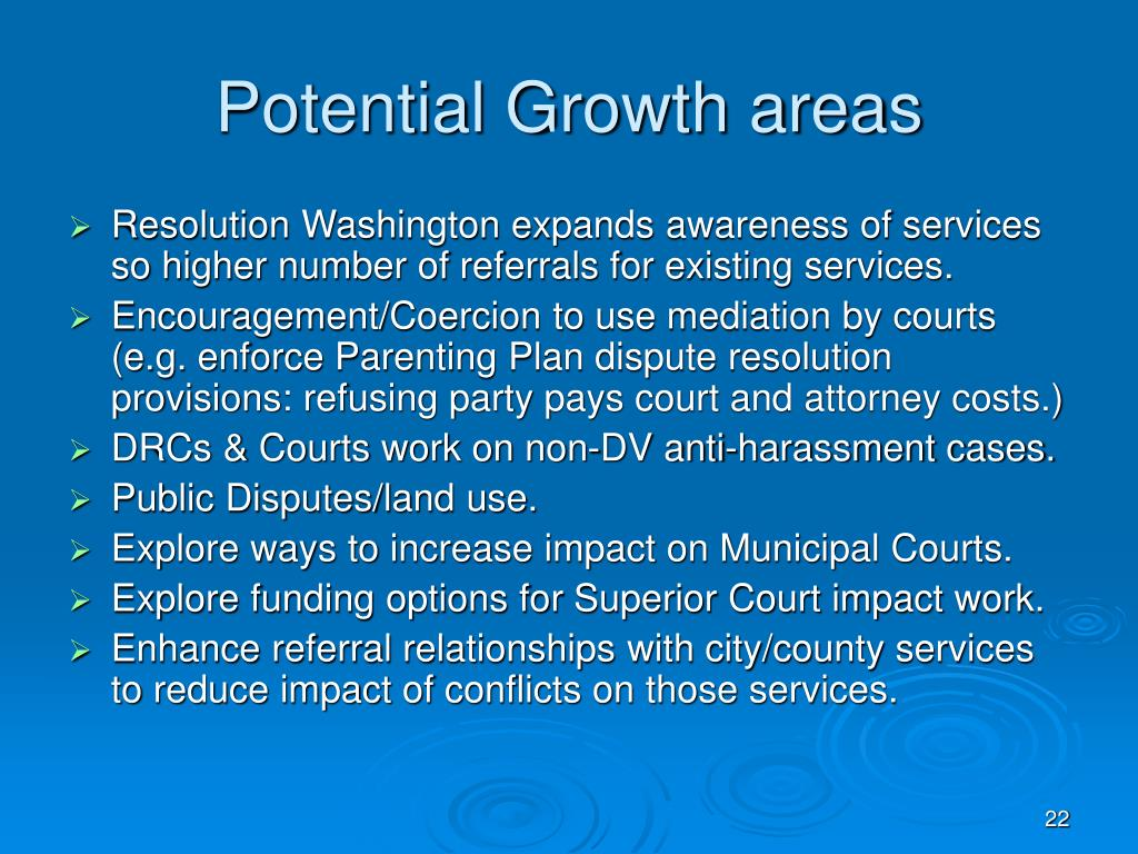 Potential Growth areas
