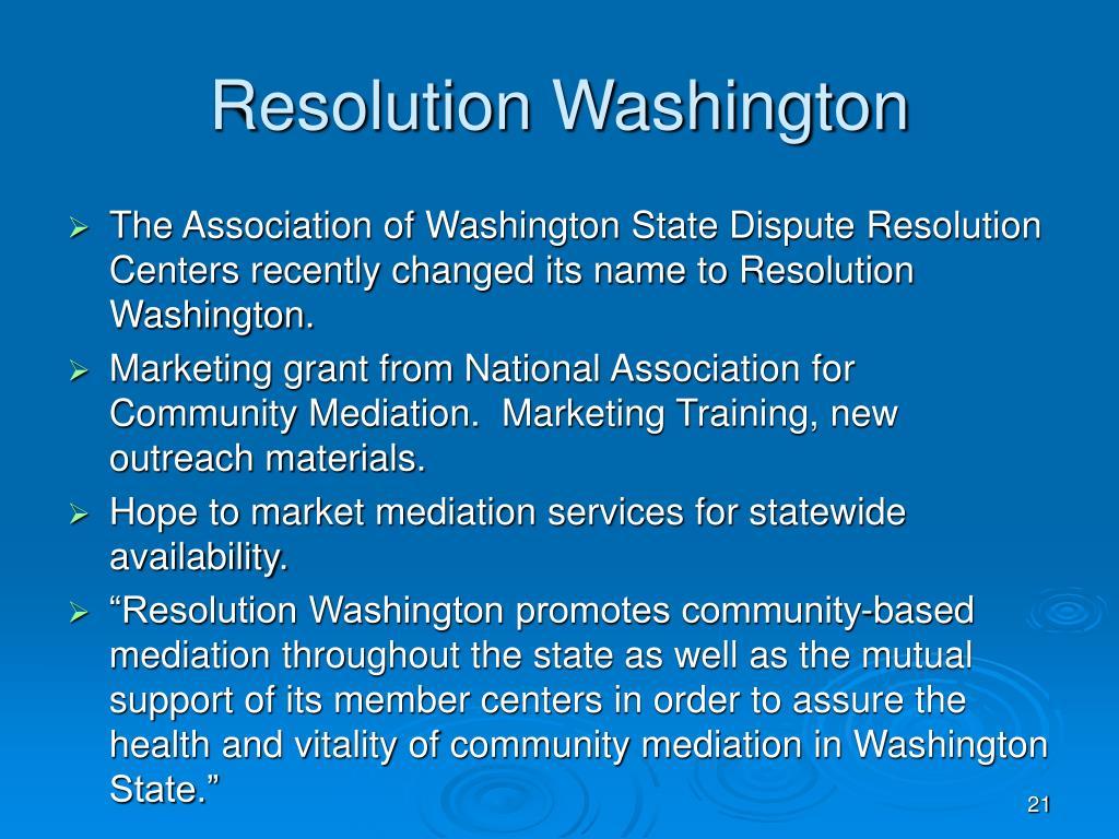 Resolution Washington