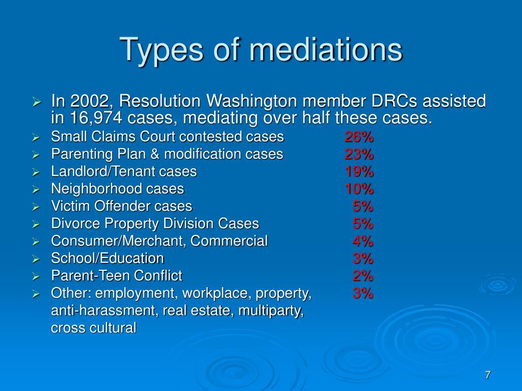 Types of mediations
