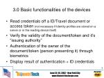 3 0 basic functionalities of the devices