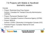 7 0 projects with mobile handheld biometric readers18
