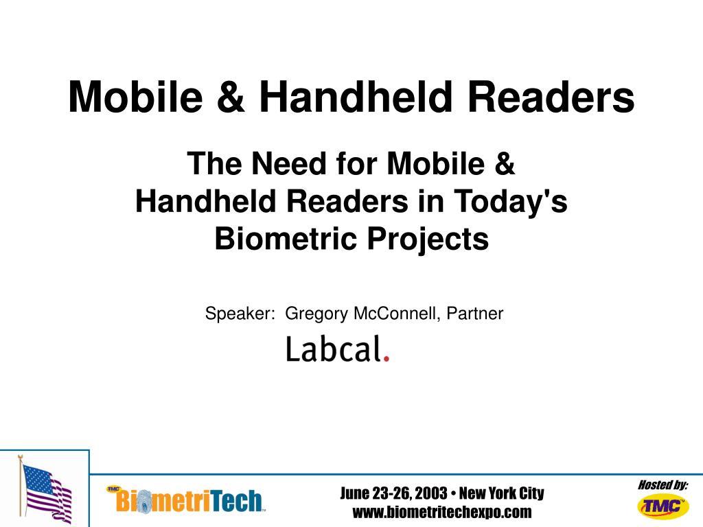 mobile handheld readers l.