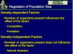 regulation of population size