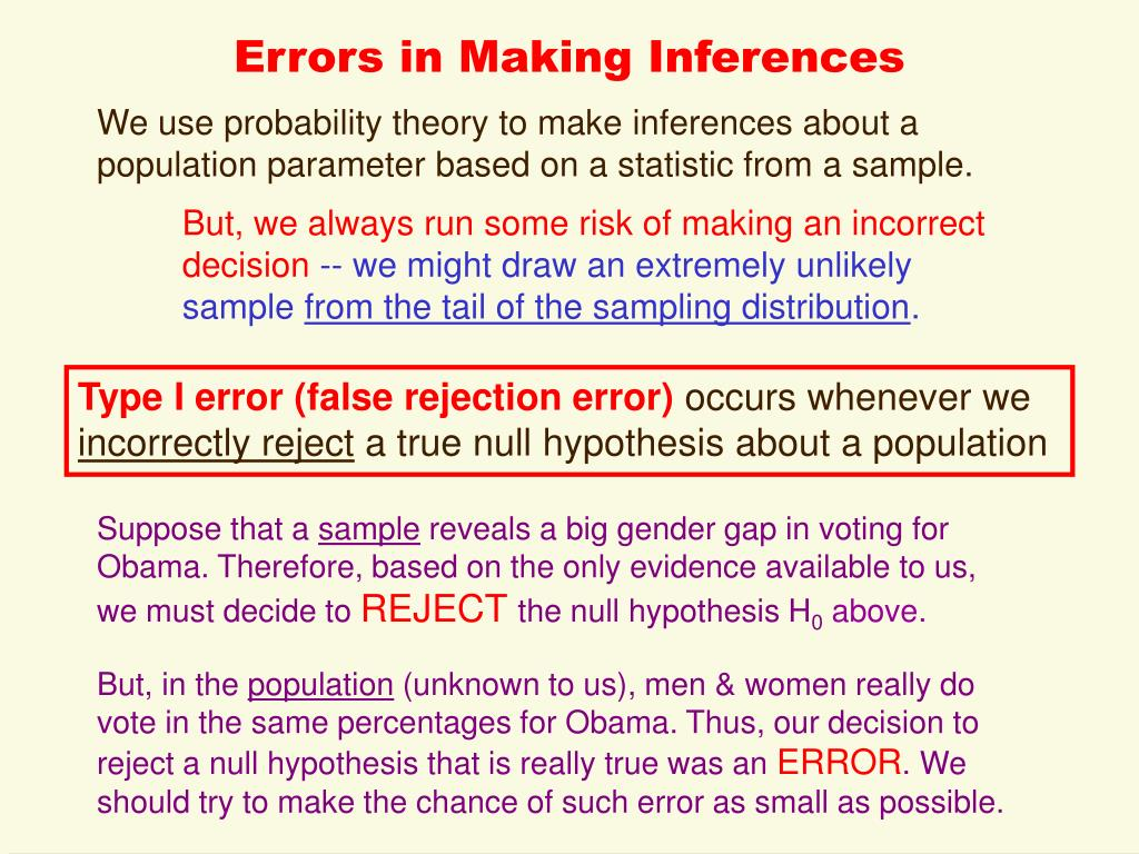 Errors in Making Inferences