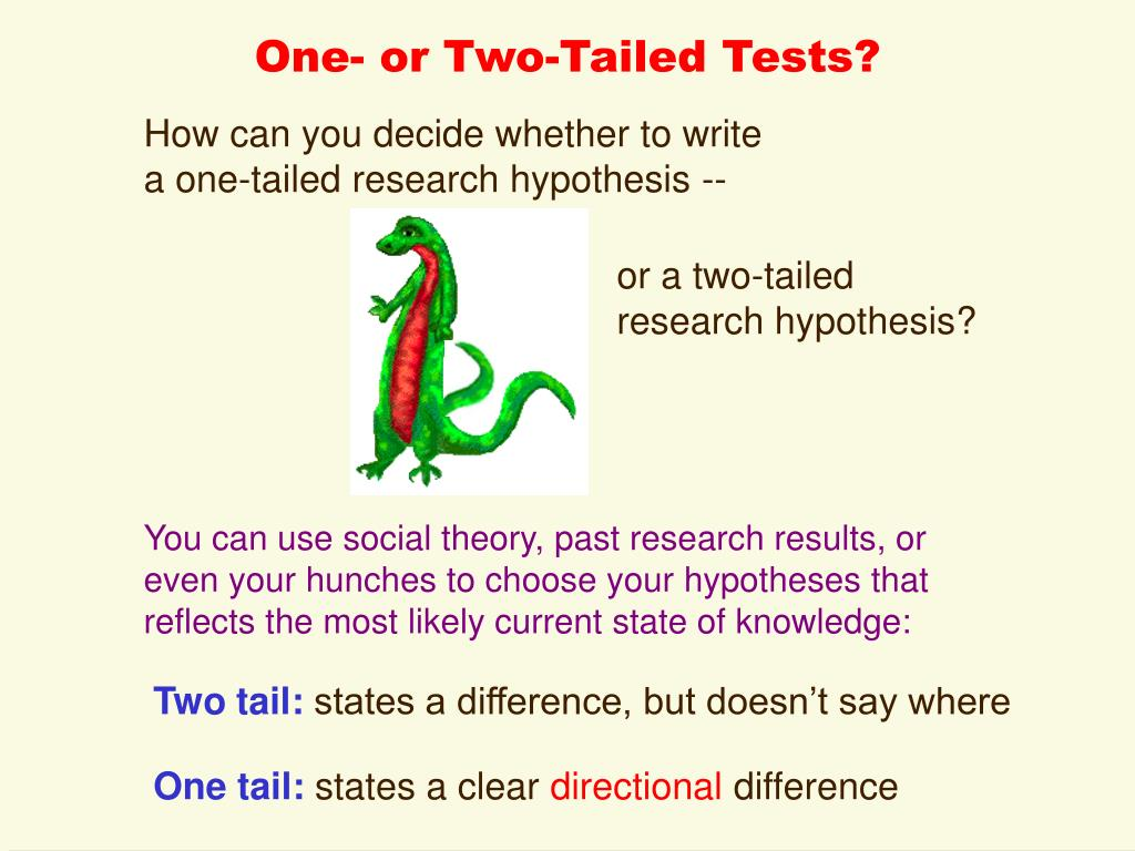 One- or Two-Tailed Tests?