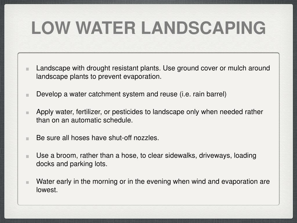 LOW WATER LANDSCAPING