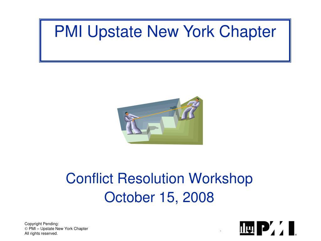 conflict resolution workshop october 15 2008