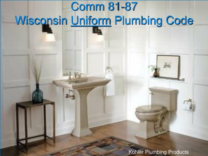 Comm 81 87 wisconsin uniform plumbing code