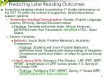 predicting later reading outcomes