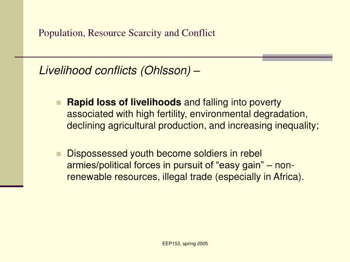 resource scarcity and conflict