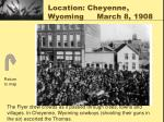 location cheyenne wyoming march 8 1908
