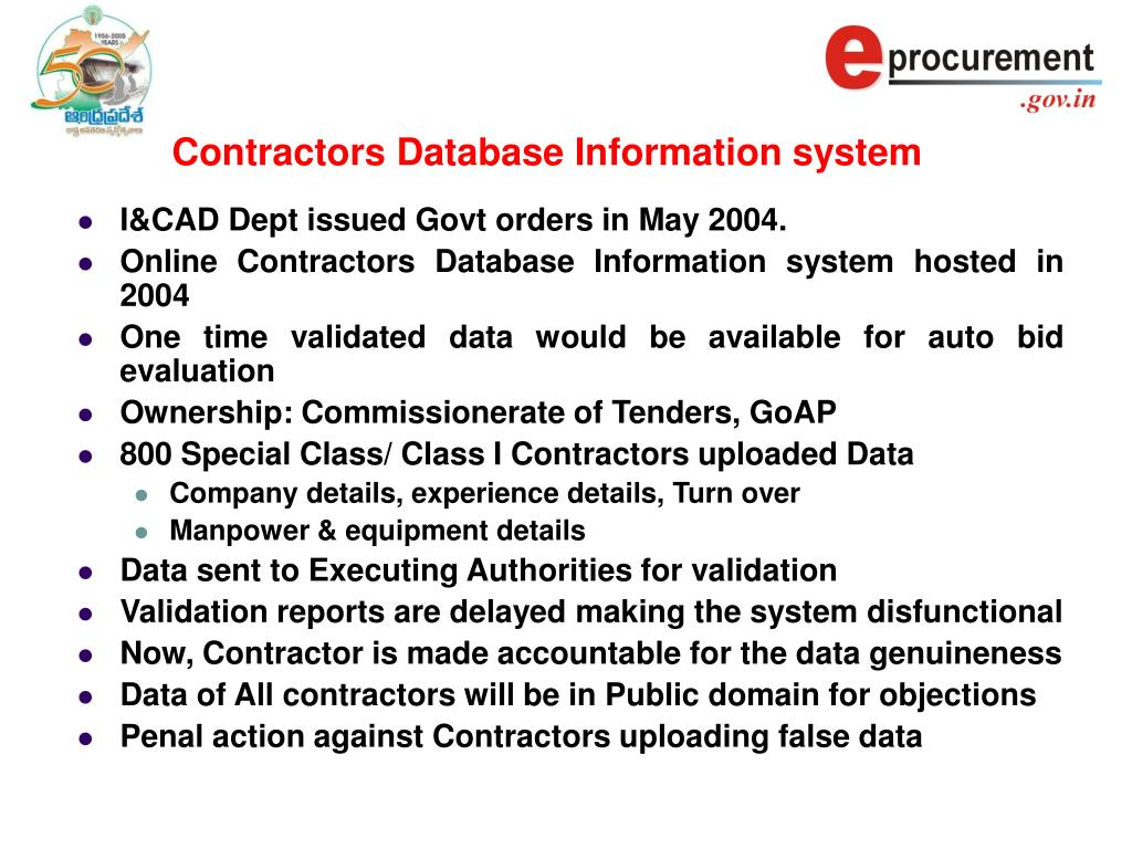 Contractors Database Information system