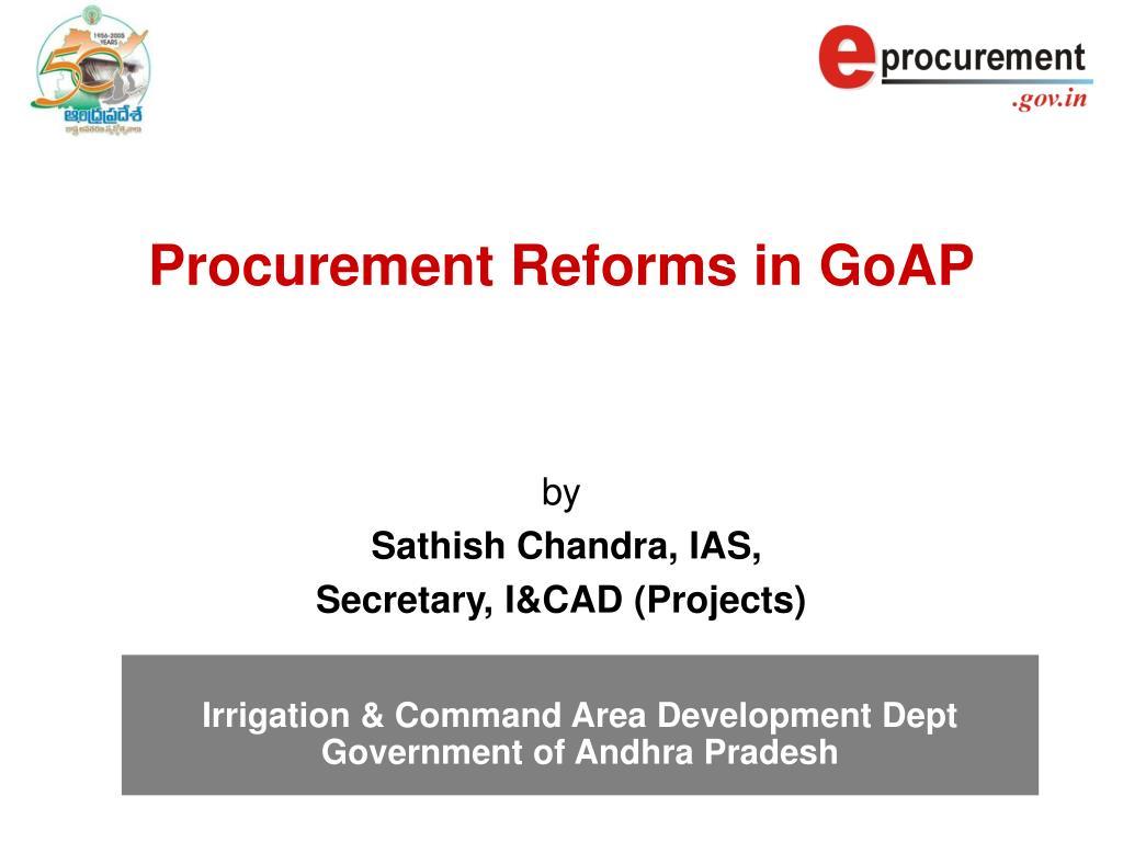 Procurement Reforms in GoAP