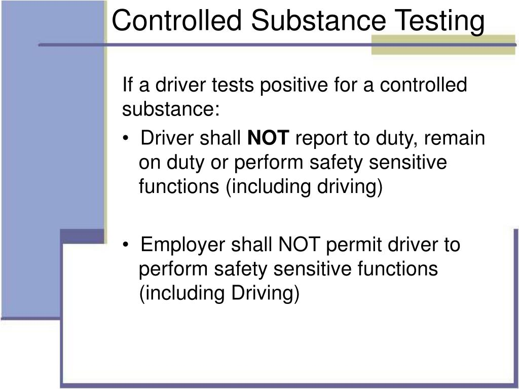 Controlled Substance Testing
