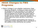heoa changes to fws programs19