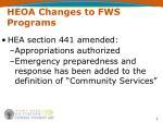 heoa changes to fws programs7