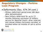 regulatory changes perkins loan program42