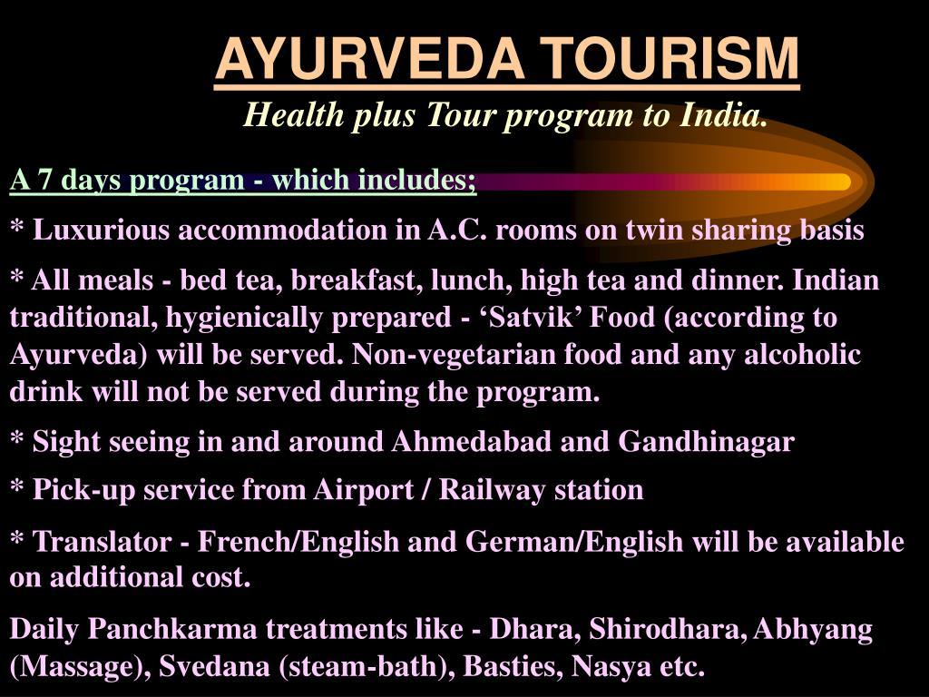 AYURVEDA TOURISM