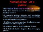 benefits of panchkarma at a glance
