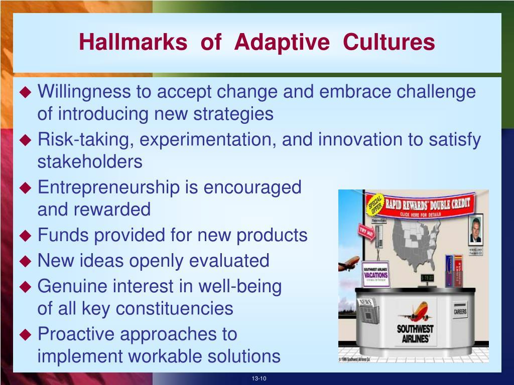 Hallmarks  of  Adaptive  Cultures