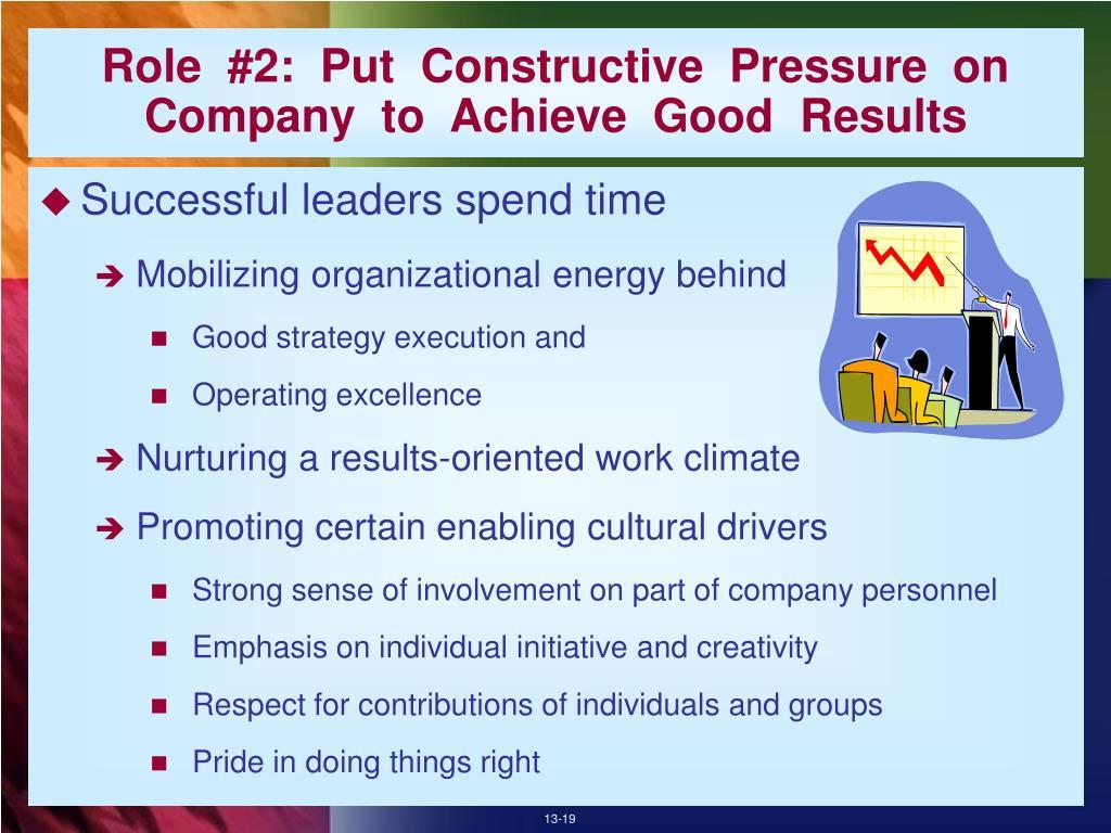 Role  #2:  Put  Constructive  Pressure  on