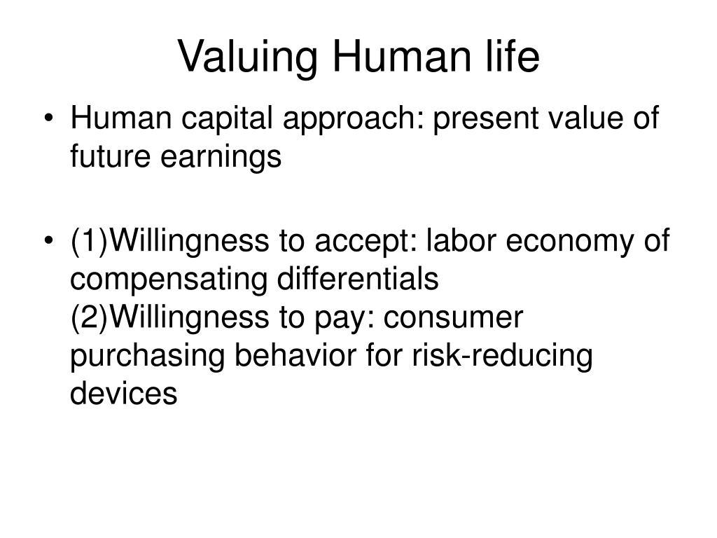 Valuing Human life