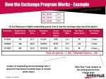 how the exchange program works example8