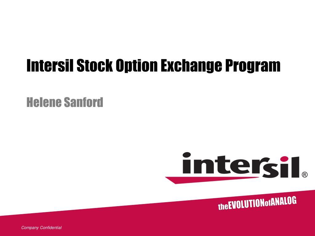 intersil stock option exchange program l.