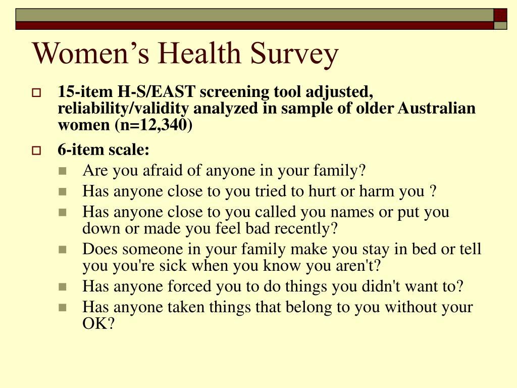 Women's Health Survey