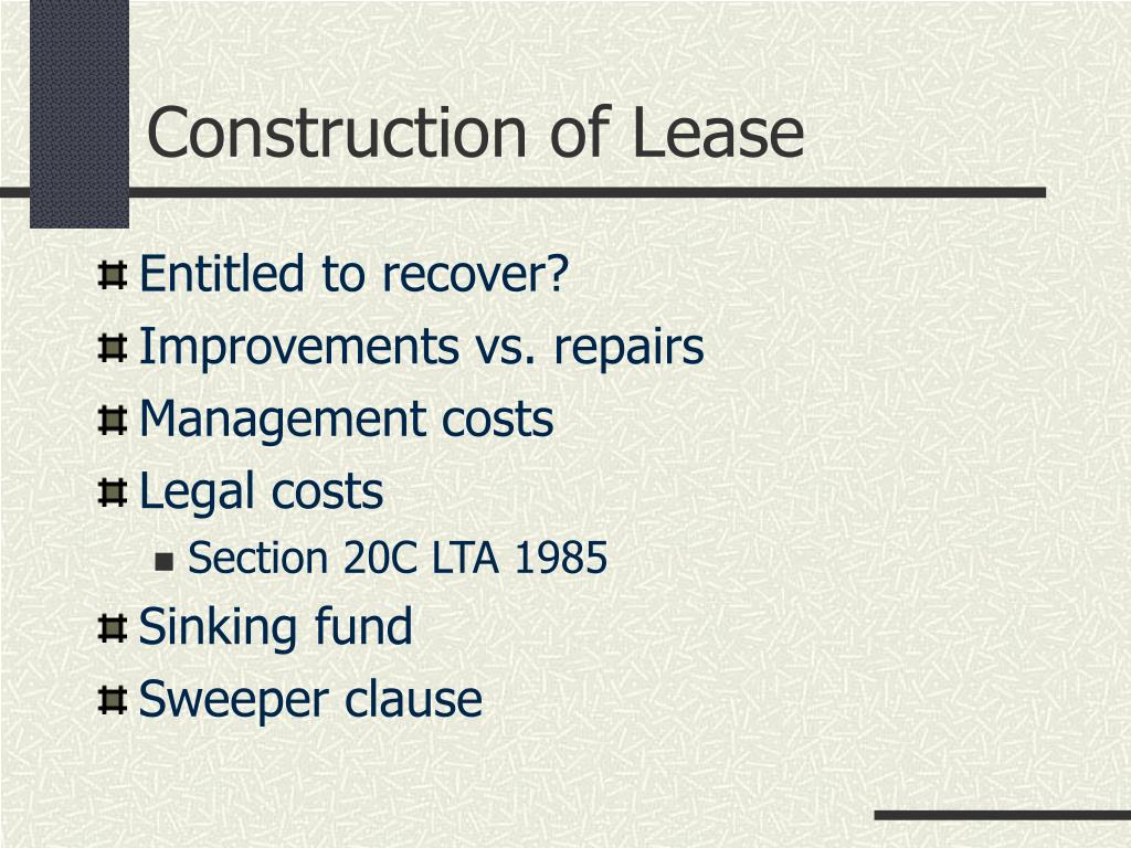 Construction of Lease