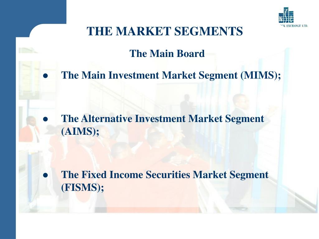 THE MARKET SEGMENTS