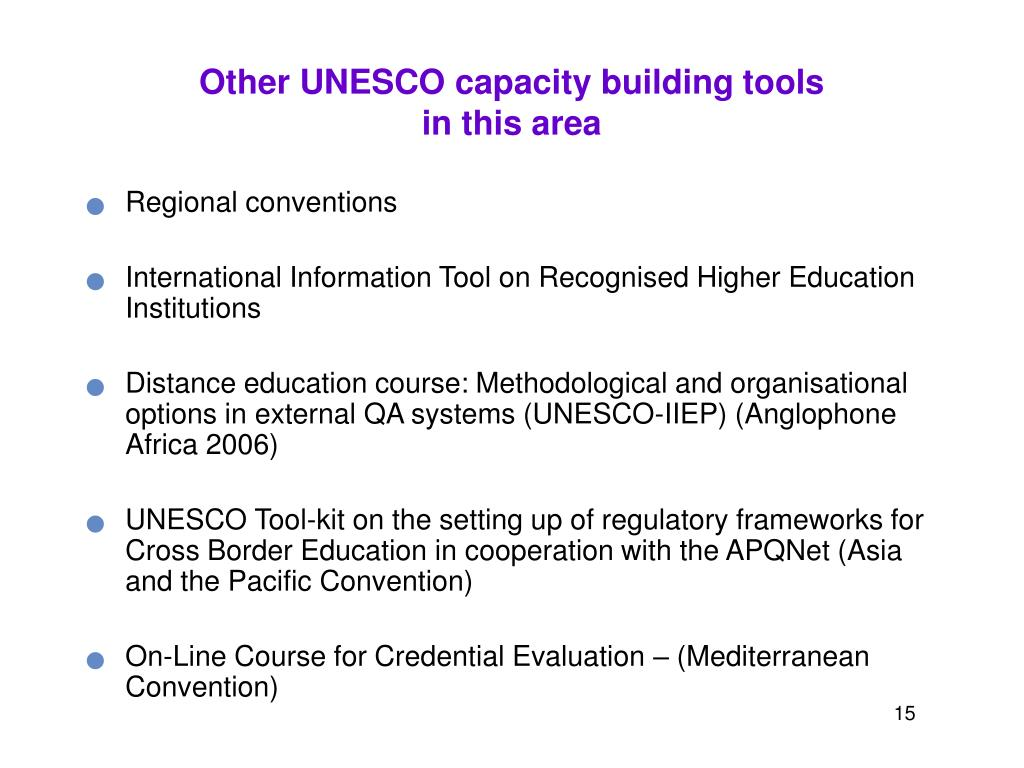 Other UNESCO capacity building tools
