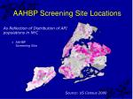 aahbp screening site locations